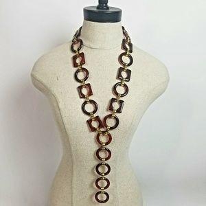Vintage YSL Tortoise Resin Necklace to Belt Link